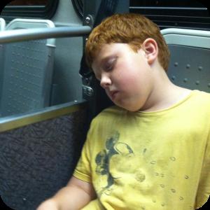 sleeping j