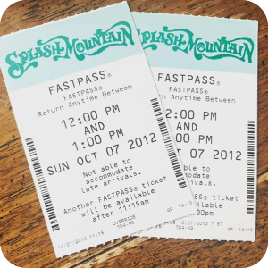 old fastpass tickets