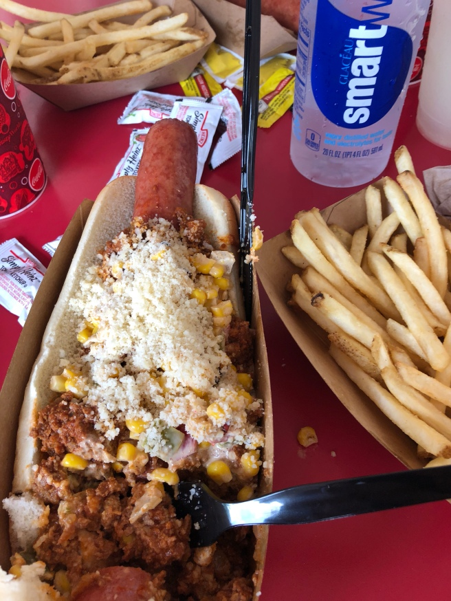 Casey's Aztec Foot Long Dog
